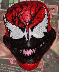 Carnage Halloween Costume Fully Painted Carnage Mask Eyes Photo Onagro Cosplay