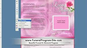 funeral programs template how to create a memorial program template on ms word funeral