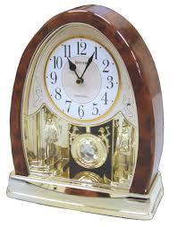 Mantel Clocks Amazon Com Joyful Crystal Bells Mantel Clock By Rhythm Clocks