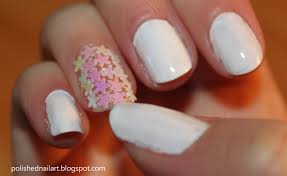 white nail designs love the look of them all together with the