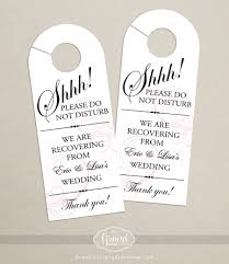wedding hotel bags set of 10 classic swirl door hanger for wedding hotel welcome