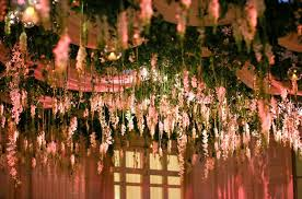 hanging flowers hanging flowers wedding reception sayles livingston flowers