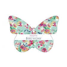 oasis hanging gift card butterfly shape happy birthday butterfly