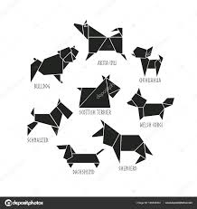 Origami Pets - origami dogs collection â stock vector â 64samcorp gmail
