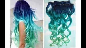 show me hair colors ombre mermaid hair tutorial www hairextensionsale com youtube