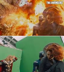movie scenes before and after special effects