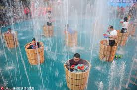 Challenge Filled With Water Pepper And Tub Challenge Held In E China 1 Chinadaily Cn