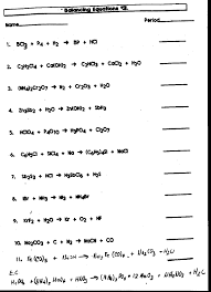 balancing chemical equations worksheet answers resume writing word equations chemistry worksheet worksheets for all and share free on