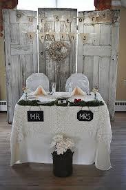 wedding backdrop vintage decorating country vintage wedding table with door backdrop