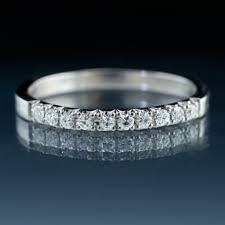 palladium wedding narrow moissanite pave stacking ring palladium wedding band size 6 7