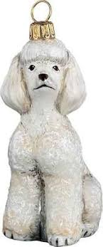 raz santa paws 5 inch sequined and beaded glass poodle ornament