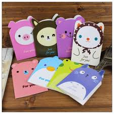 Creative Ideas To Make Greeting Cards - 16pcs lot creative 3d cartoon animal greeting cards with envelopes