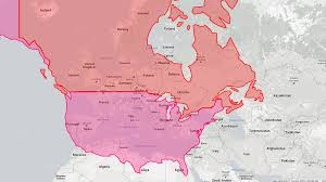 America Longitude And Latitude Map by The United States And Canada At The Same Latitudes As Europe
