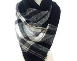 plaid blanket scarf etsy