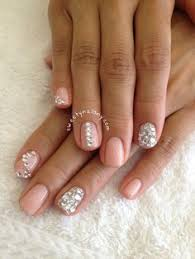 simple acrylic nail designs with rhinestones how to nail designs