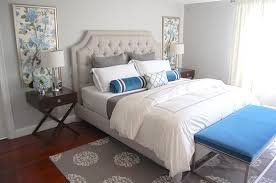 Light Blue Grey Bedroom Gray And Blue Bedroom Transitional Bedroom Erin Gates Design
