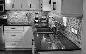 astonishing stones pattern backsplash also gloss varnished honed