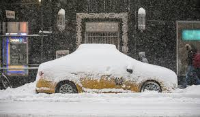 Major East Coast airports slowly resume service   NCPR News Taxis in New York City were also grounded on January    during the blizzard of       Photo  Office of the Gov