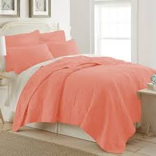 Queen Quilted Coverlet Buy Coral Colored Queen Bedding From Bed Bath U0026 Beyond
