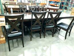 Dining Chairs Costco Costco Leather Dining Chairs Furnishings 9 Dining Set Bonded
