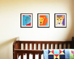 jungle nursery decor baby nursery art prints safari theme