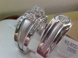 his and hers bridal other bands his hers bridal engagement wedding band 3 ring set