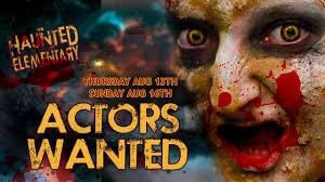 halloween horror nights scare actor auditions bridgeport gore grounds haunted elementary saginaw u0027s largest