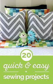 Home Decor Sewing Projects by 20 Quick Easy Sewing Projects Tutorials Thegoodstuff Loversiq