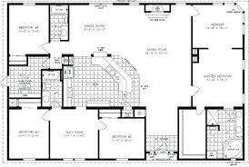 four bedroom floor plans floor plan 4 bedroom 3 bath iamfiss com