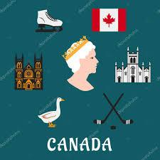 kanada fläche reisen flache icons und symbole stockvektor 71912921