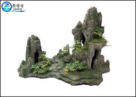 popular made rockery fish aquarium craft polyresin mountain