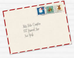 letter from santa kit with envelope template red christmas