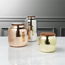 canisters for kitchen counter 3 capsule metal kitchen canisters cb2