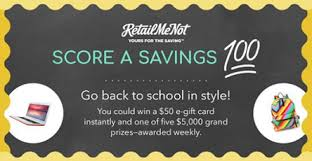 instant win gift cards retail me not score a savings sweepstakes and instant win
