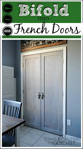 how to make bifold cabinet doors remodelaholic bifold door makeover into french doors