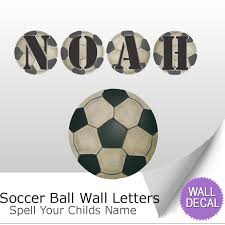 wall letter alphabet initial sticker vinyl decal name bedroom soccer ball name wall letter stickers