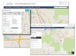 Lds Temples Map The Way Lds Org Visitors Find A Meetinghouse Online Is Changing