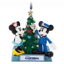 mickey and minnie mouse holiday ornament disney california