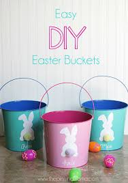 personalized easter buckets easy diy easter with free silhouette cut file the pinning