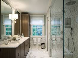 Wainscoting Bathroom Vanity Marble Wainscoting Powder Room Transitional With Marble Floor