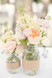 Mason Jar Flower Arrangement Bridal Shower Etiquette The Mason Jar Centerpiece One To Wed
