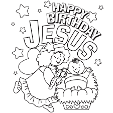 christmas coloring pages secular happy birthday jesus