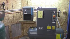 compressed air dryer and filtration installation youtube