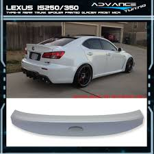 lexus is 250 convertible for sale south africa 06 13 lexus is250 350 ik style trunk spoiler wing painted glacier