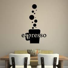 rising bubbles espresso wall sticker self adhesive art decal