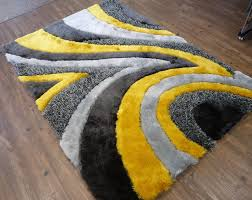 rug factory plus hand tufted gray yellow area rug u0026 reviews wayfair