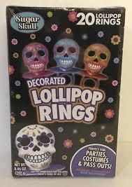 ring pop sugar skulls assorted 20 ct finger lollipop