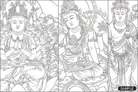Buddhist Line Art Buddhist Painting In Japanese Instant D Flickr Buddhist Coloring Pages