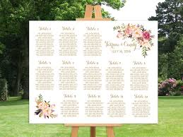 Winter Garden Seating Chart - wedding seating chart printable gold guests list watercolor