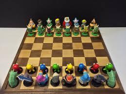 chess sets legend of zelda windwaker inspired chess set